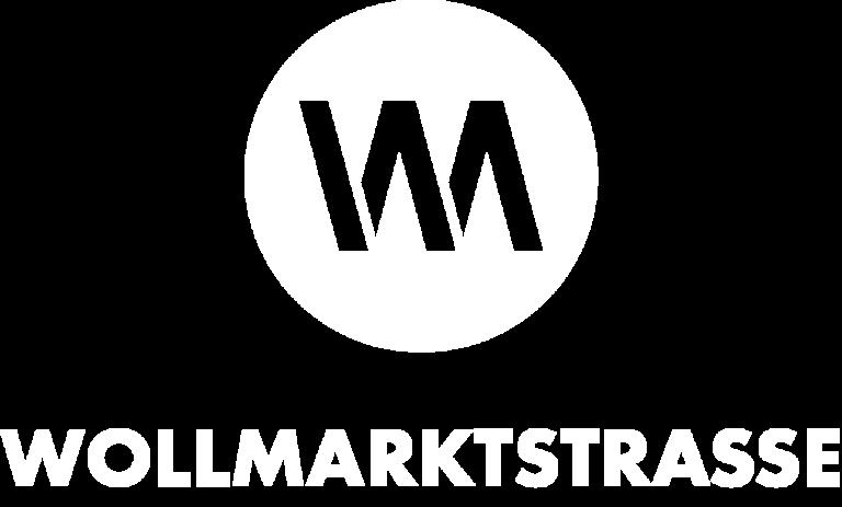 Wollmarktstrasse Logo weiss